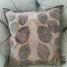 Eco printed cotton cushion cover 40x40