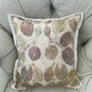 Eco printed silk cushion cover 40x40