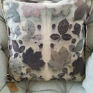 Eco printed silk cushion cover 50x50