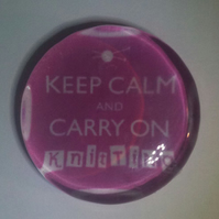 'Keep Calm and Carry On Knitting' Magnet