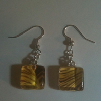 Mellow Yellow Glass Earrings