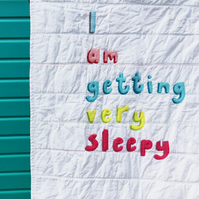 'I am getting very sleepy' Applique Quilt