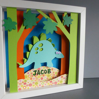Personalised Baby Kids Childrens picture - Dinosaur