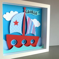 Personalised Baby Kids Childrens picture - Boat