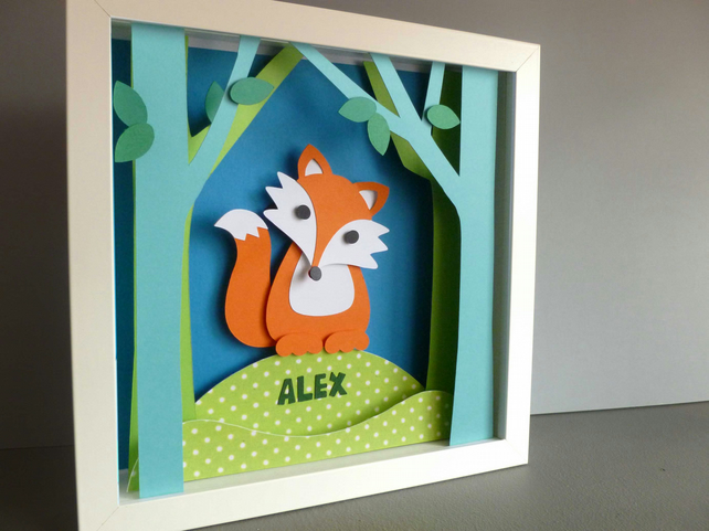 Personalised Baby Kids Childrens picture - Fox