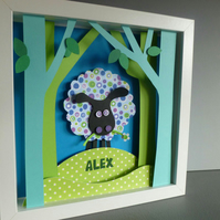 Personalised Baby Kids Childrens picture - Sheep