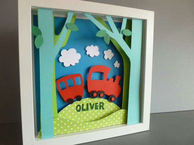 Personalised Baby Kids Childrens picture - Train