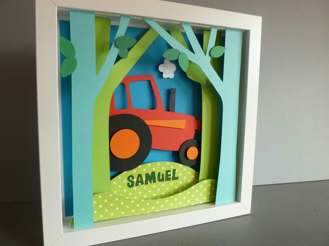 Personalised Baby Kids Childrens picture - Tractor