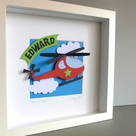 Personalised Baby Kids Childrens picture - Helicopter
