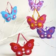 SEWING KIT: TURQUOISE FELT BUTTERFLY KIT FOR KIDS