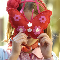 SEWING KIT: RED FELT BUTTERFLY KIT FOR KIDS