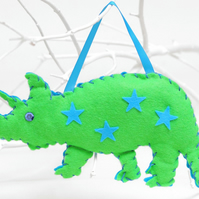 SEWING KIT: GREEN FELT DINOSAUR KIT FOR KIDS