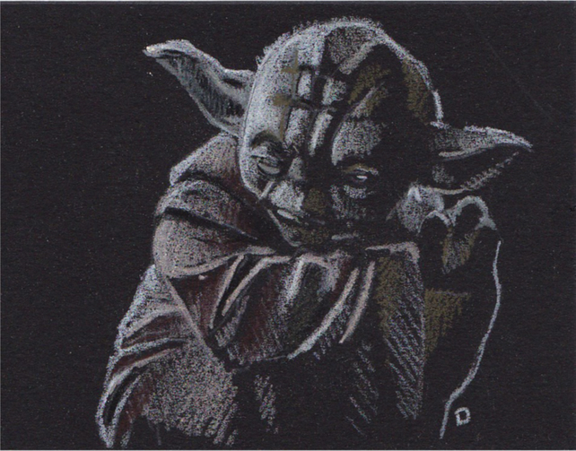 Original ACEOS drawing of Yoda from Star Wars