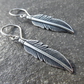 Silver Feather Earrings With Handmade 925 Sterling Silver Ear Wires
