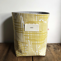 Fabric storage basket - mustard yellow storage basket - scandi style home