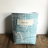 Fabric storage basket - turquoise storage basket - nursery storage