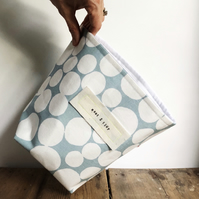 Fabric storage basket - pale blue and white storage - nautical homeware