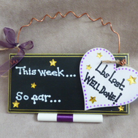 Weight Loss Chalkboard Plaque FREE POST
