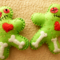 Needle Felt Voodoo Doll Pin Cushion FREE POST