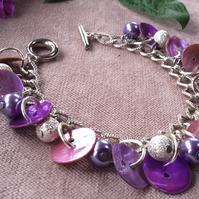 Shelly Pink and Purple Bracelet FREE POST
