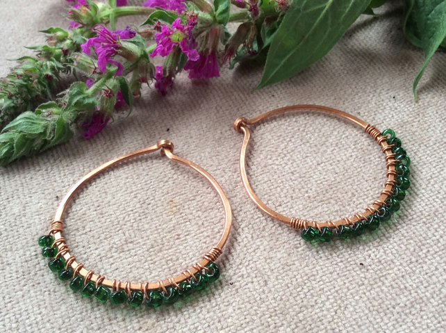 Creole Hoop Style Copper Earrings FREE POST