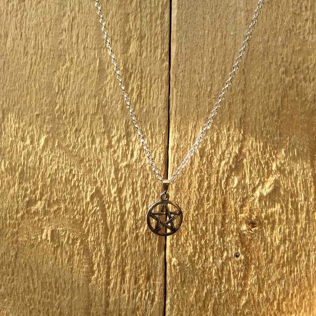 Pentagram Charm Necklace  FREE POST