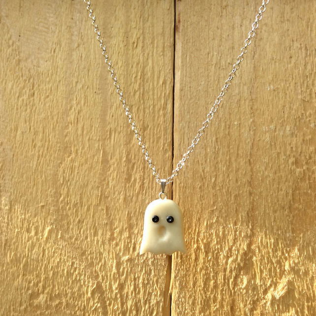 Casper the Ghost Necklace  FREE POST