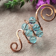 Reflection - Swirl Wire Wrap Ring FREE POST