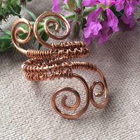 Double Swirl Wire Wrap Ring