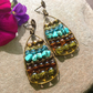 Green Moroccan Bazaar Abacus Earrings FREEPOST