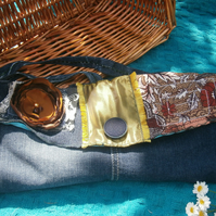 Indigo Stone-Wash Denim Patchwork 'Upcycled' Shabby Chic Boho Bag LARGE