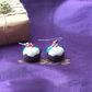 Christmas Novelty Fimo Earrings XMAS PUD (Dark brown)