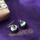 Christmas Novelty Fimo Earrings XMAS PUD
