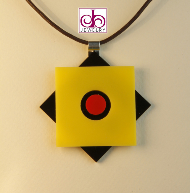 RETRO 1930's ACRYLIC NECKLACE - DESIGN 0002