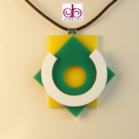 RETRO 1930's ACRYLIC NECKLACE - DESIGN 0014