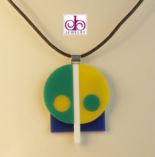 RETRO 1930's ACRYLIC NECKLACE - DESIGN 0012