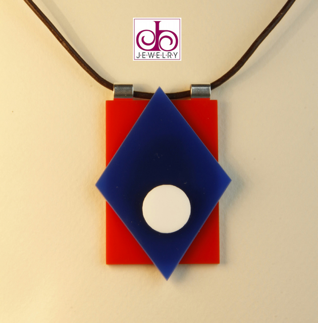RETRO 1930's ACRYLIC NECKLACE - DESIGN 0017
