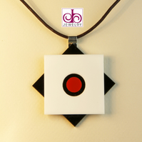 RETRO 1930's ACRYLIC NECKLACE - DESIGN 0002B