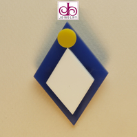 RETRO 1930's ACRYLIC BROOCH - DESIGN 0009B