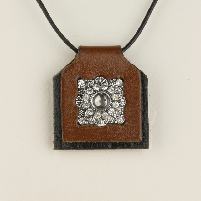 29 - LEATHER PENDANT