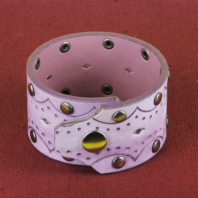 7 - STUDDED AND PIERCED BRACELET