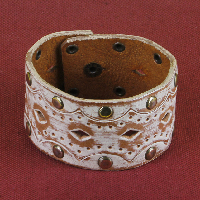 8 - STUDDED AND PIERCED BRACELET