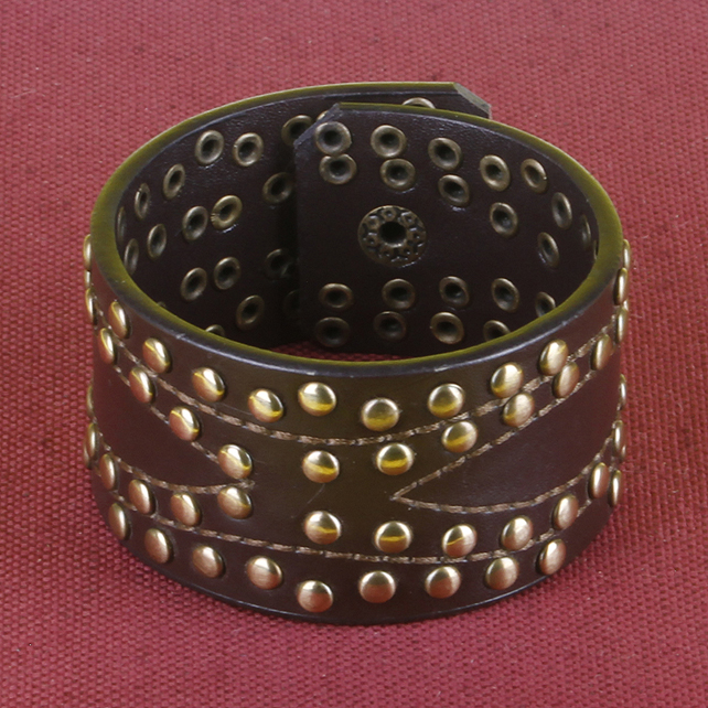 10 - STUDDED AND STITCHED BRACELET