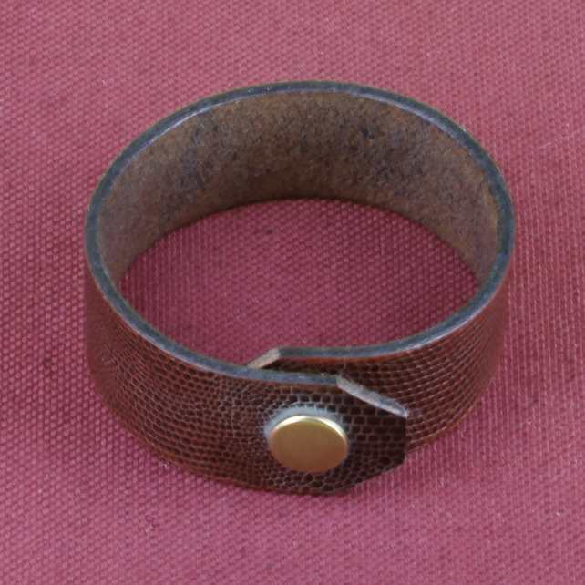 11 - SNAKESKIN LEATHER BRACELET
