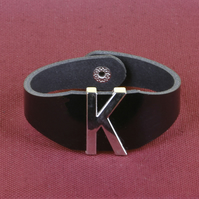 12 - INITIAL LEATHER BRACELET