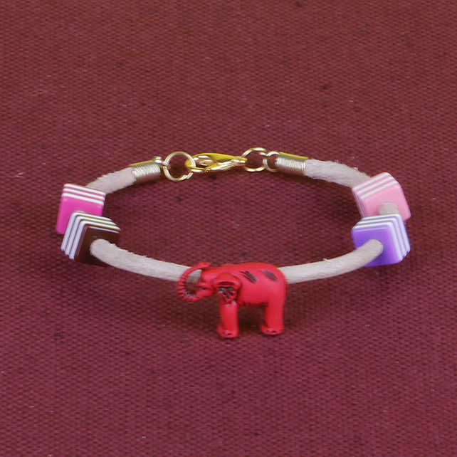 3 - CHILD'S LEATHER THONG BRACELET