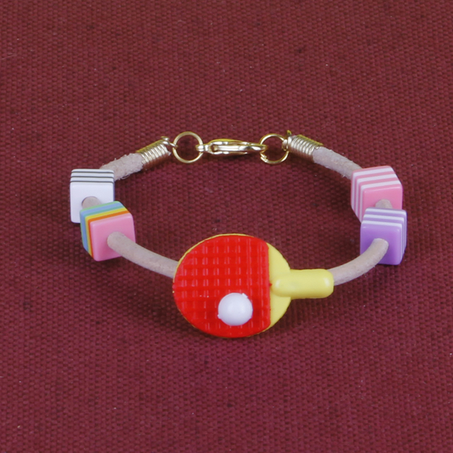 2 - CHILD'S LEATHER THONG BRACELET