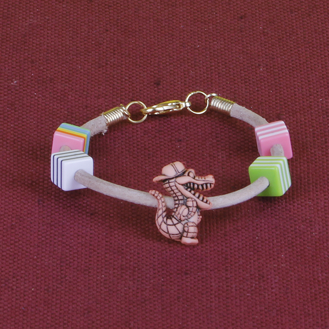 15 - CHILD'S LEATHER THONG BRACELET