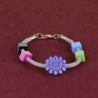4 - CHILD'S LEATHER THONG BRACELET