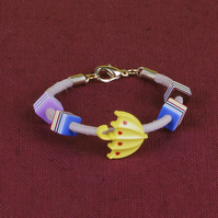 9 - CHILD'S LEATHER THONG BRACELET